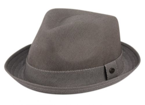 SOLID COLOR FEDORA WITH SELF FABRIC BAND F2784