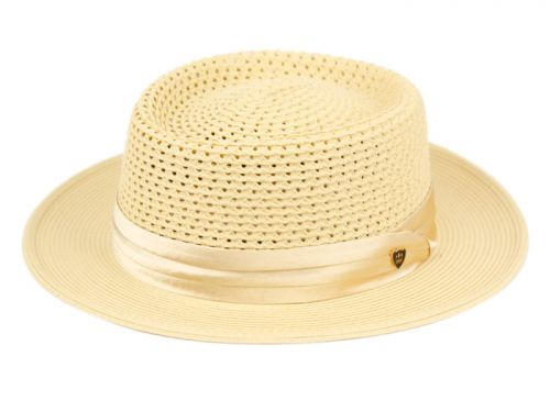 RICHMAN BROTHERS POLYBRAID HATS WITH PLEAT SILK BAND F4005