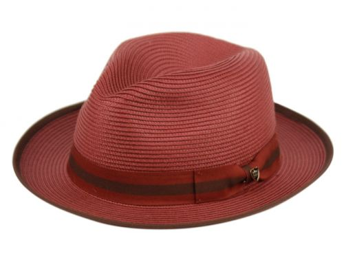 RICHMAN BROTHERS POLYBRAID FEDORA HATS WITH GROSGRAIN BAND F4006