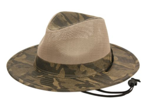 OUTDOOR CAMOUFLAGE SAFARI HATS WITH MESH CROWN F4014