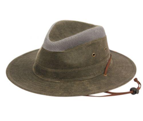 OUTDOOR SAFARI HATS W/PARTIAL MESH CROWN F4015
