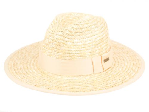 STRAW PANAMA HATS WITH GROSGRAIN BAND F4028