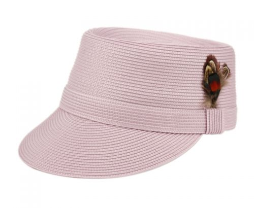 RICHMAN BROTHERS POLYBRAID CAP WITH FEATHER F4109