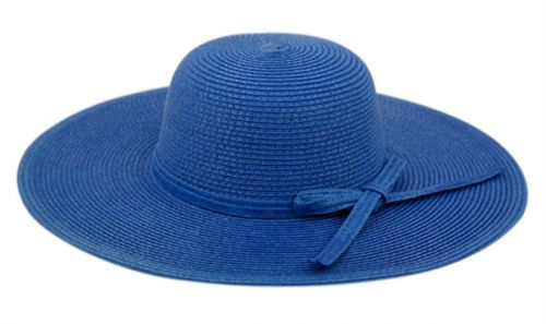 BRAID PAPER STRAW FLOPPY HATS WITH SELF FABRIC BAND FL2095