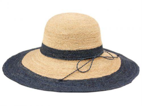 RAFFIA STRAW TWO TONE SUMMER FLOPPY HATS FL2905