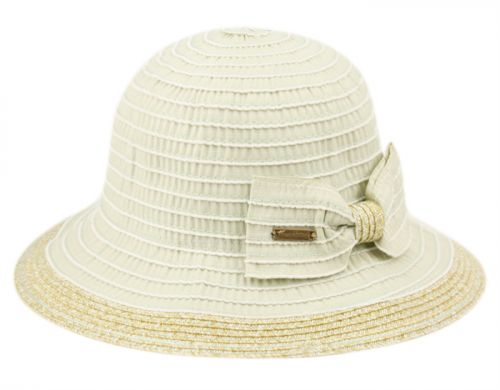 VINTAGE STYLE SUN BUCKET HATS WITH RIBBON BOW TIE FL2914