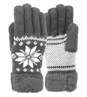 SNOWFLAKE WINTER KNIT GLOVES W/SCREEN TOUCH GL3012MEN