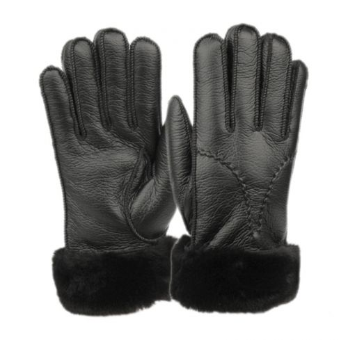 LADIES FAUX LEATHER GLOVE W/FUR CUFF GL4103