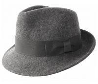 WOOL FELT FEDORA HATS WITH GROSGRAIN BAND HE02
