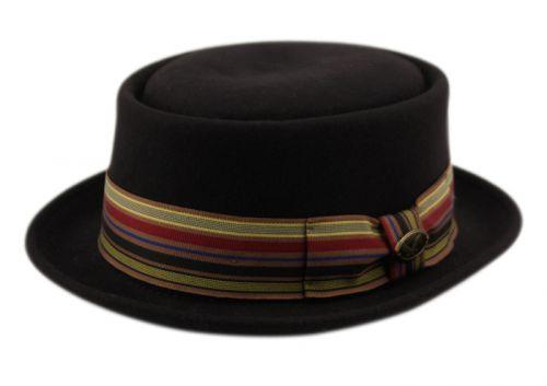 PORK PIE WOOL FELT HATS HE34