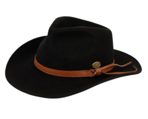 c9c0dfd0d366e3 WOOL FELT OUTBACK FEDORA HATS WITH FAUX LEATHER BAND HE56 - Epoch Fashion  Accessory