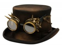 STEAMPUNK TOP HATS WITH GOGGLES HL81
