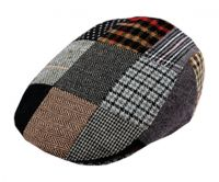 PATCH WORK WOOL FLAT IVY CAP W/QUILTED LINING IV1580
