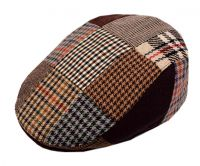 PATCH WORK WOOL FLAT IVY CAP W/QUILTED LINING IV1655