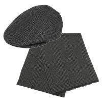 WOOL BLEND IVY CAP W/SCARF SETS IV1930+SC4083BK