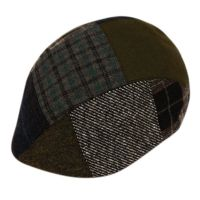 PATCH WORK WOOL BLEND DUCKBILL IVY CAP WITH LINING IV2295