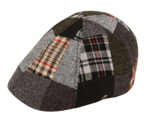 PATCH WORK WOOL BLEND DUCKBILL IVY CAP WITH LINING IV2327