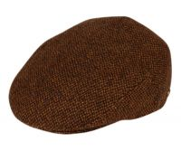 TWEED WOOL IVY CAPS W/SATIN QUILTED LINING IV2359