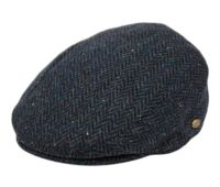 HERRINGBONE WOOL FLAT IVY CAPS W/SATIN QUILTED LINING IV3006