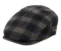 BRUSHED WOOL CHECK IVY CAPS W/SATIN QUILTED LINING IV3008