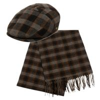 IVY CAP W/SCARF SETS IV3008+SC051DKGRY