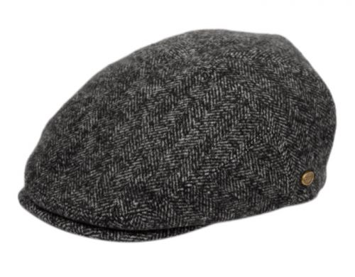HERRINGBONE WOOL IVY CAPS W/SATIN QUILTED LINING IV3045