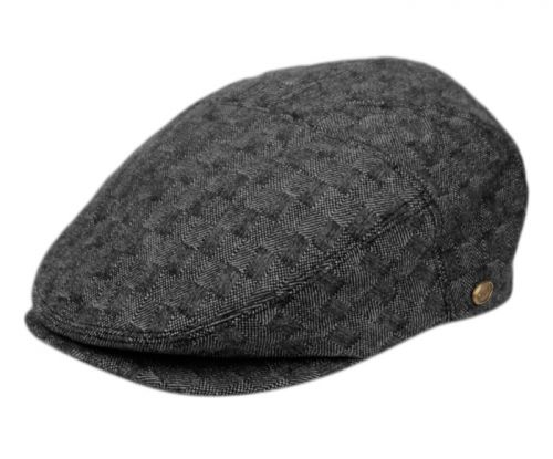 TWEED WOOL IVY CAPS W/SATIN QUILTED LINING IV3047