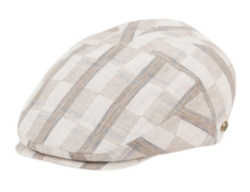 COTTON SLIM FIT SIX PANEL CHECK IVY CAPS IV4022