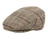 HERRINGBONE TWEED WOOL IVY CAPS IV5002