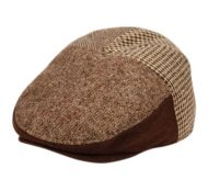 HERRINGBONE/HOUNDSTOOTH WOOL IVY CAPS W/FREECE EARFLAP & LINING IVE3005