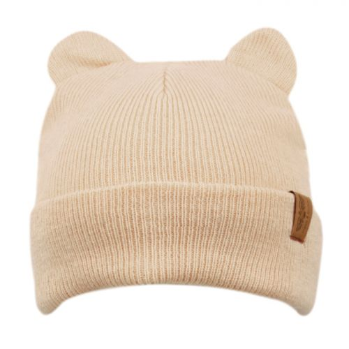 KIDS CAT EAR CABLE KNIT BEANIE KBN3022