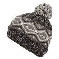 MIX COLOR KIDS WINTER KNIT BEANIE W/POMPOM & SHERPA LINING KBN5025