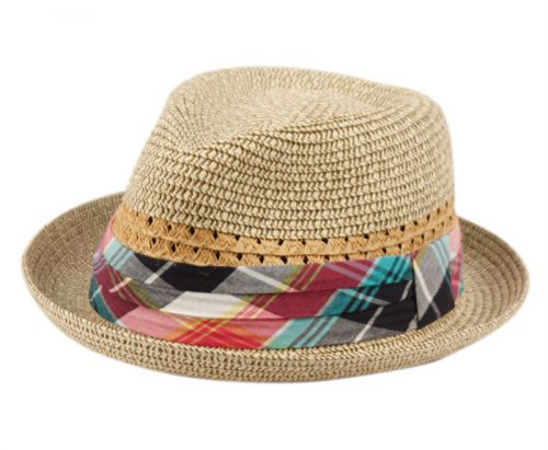 b706a2a71eea4 KIDS PAPER STRAW FEDORA HATS WITH FABRIC BAND KD2795 - Epoch Fashion  Accessory