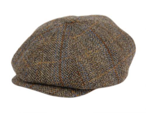 BERTELL GENUINE HARRIS TWEED WOOL NEWSBOY CAP M101