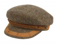 BERTELL GENUINE HARRIS TWEED WOOL GREEK FISHERMAN CAP M99