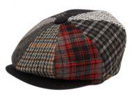 MULTI PATCH WORK NEWSBOY CAP NSB1591