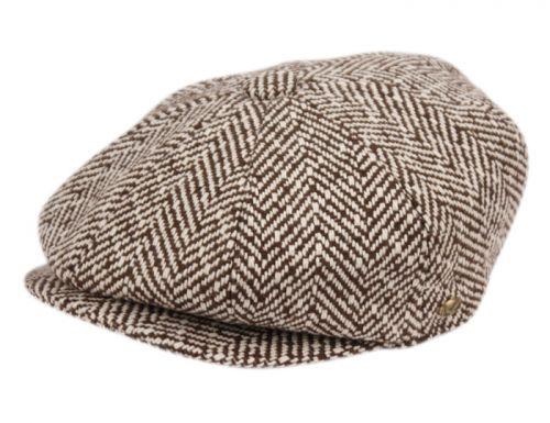 HERRINGBONE WOOL BLEND NEWSBOY CAP NSB1593
