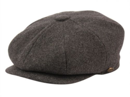 SOLID COLOR MELTON WOOL NEWSBOY CAP NSB1595