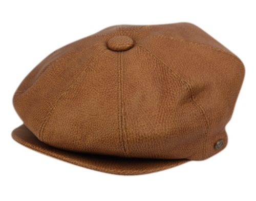 FAUX LEATHER NEWSBOY HATS NSB1913