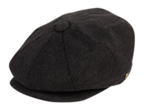 BRUSHED HERRINGBONE WOOL BLEND NEWSBOY CAP NSB2121