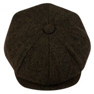 BRUSHED HERRINGBONE WOOL BLEND NEWSBOY CAP NSB2122
