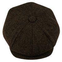 BRUSHED HERRINGBONE WOOL BLEND NEWSBOY CAP NSB2122