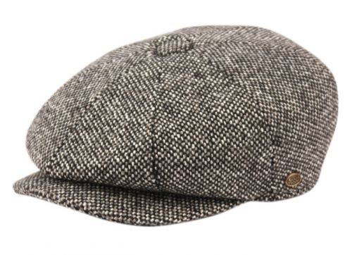 BRUSHED HERRINGBONE WOOL BLEND NEWSBOY CAP NSB2124