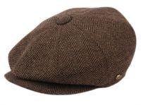 BRUSHED HERRINGBONE WOOL BLEND NEWSBOY CAP NSB2318-S
