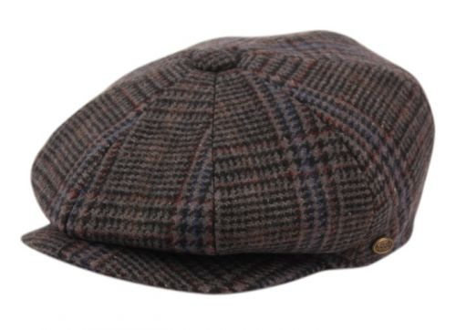 BRUSHED GLEN PLAID WOOL BLEND NEWSBOY CAP NSB2324