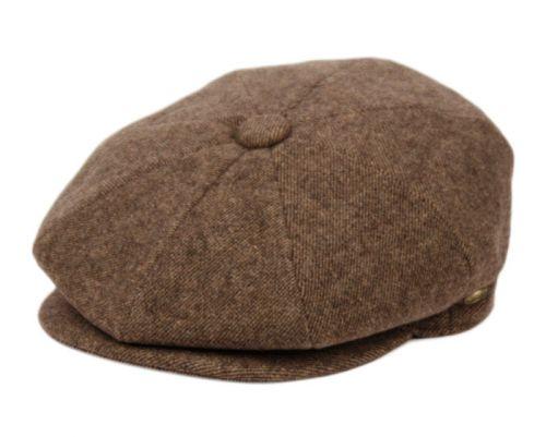 HERRINGBONE WOOL BLEND NEWSBOY CAP NSB3060