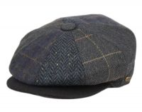 MULTI HERRINGBONE PATCH WORK NEWSBOY CAP NSB5008
