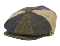 MULTI HERRINGBONE PATCH WORK NEWSBOY CAP NSB5009