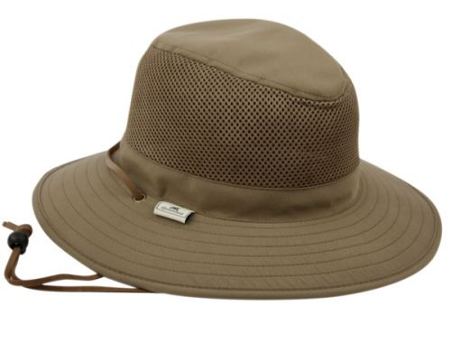 OUTDOOR FEDORA WITH MESH & LEATHER STRING OD2683