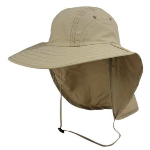 PACKABLE SUN PROTECTION FISHING CAP WITH NECK FLAP OD2792